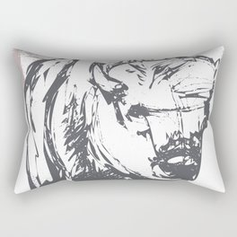Bison - Abstract Rectangular Pillow