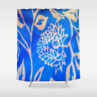 bali Shower Curtains featuring Bali by Mirabella Market