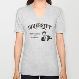Diversity - Midgets in Basketball Unisex V-Neck