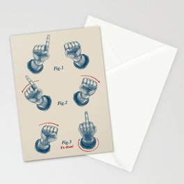 Finger Magic Trick Stationery Cards