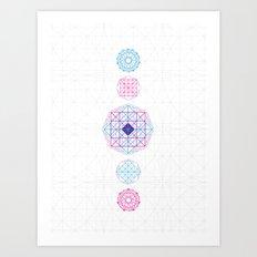 Geometric Mandalas Art Print