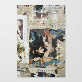 Untitled girl with smeared lipstick Canvas Print