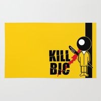 kill bill Area & Throw Rugs featuring KILL BIC by David R. Ramos