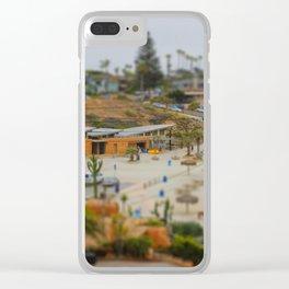Moonlight Beach Miniature Clear iPhone Case