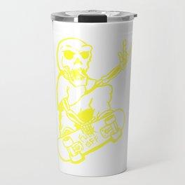 skate skelleton Travel Mug