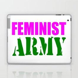 feminist army Laptop & iPad Skin