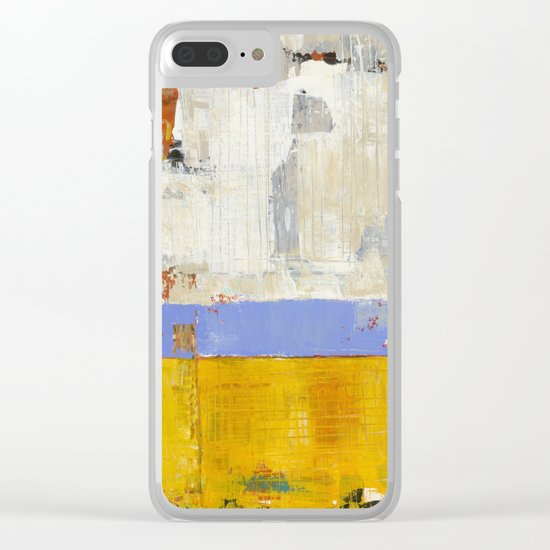 Amenity Abstract Landscape Yellow Modern Shawn McNulty Clear iPhone Case