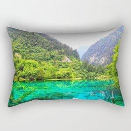 ANCIENT GLORY // Five Flower Lake, Jiuzhaigou Rectangular Pillow