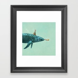Party Whale - colour option  Framed Art Print
