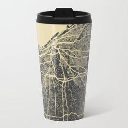 Cleveland map Travel Mug