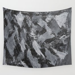 White Ink on Black Background #2 Wall Tapestry