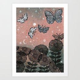 Night Garden (2) Art Print