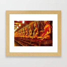 Wat Suthat or the Giant Swing temple Framed Art Print