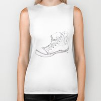 shoe Biker Tanks featuring Shoe by Tony Bozanic Art