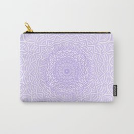 Purple Violet Mandala Design Extra Detailed Geometric Ethnic Tribal Pattern Carry-All Pouch