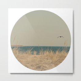 Tranquility Beach Ocean Seaside Neutral Fine Art Prints  Metal Print