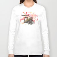 david tennant Long Sleeve T-shirts featuring Doctor Who 10th Doctor David Tennant With Companion Rose Tyler by idillard