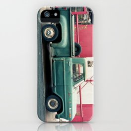 Old Truck & Red Building iPhone Case