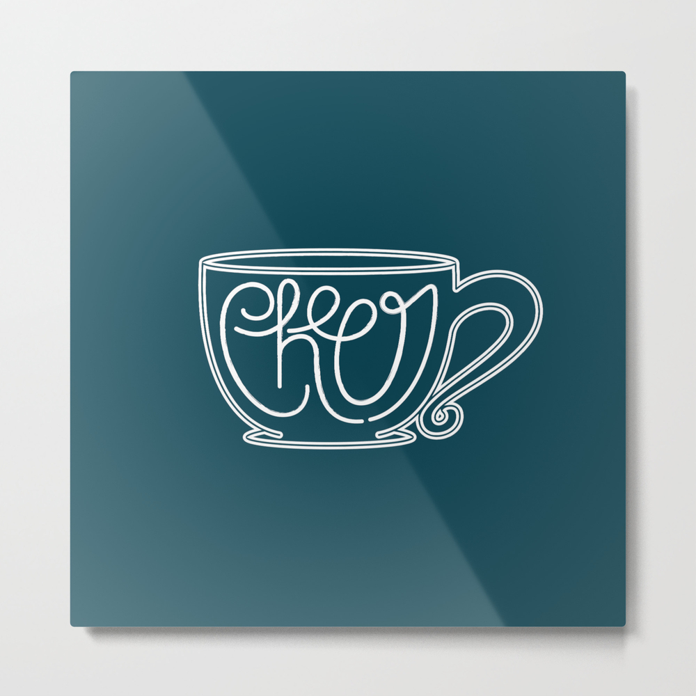 Cup Of Cheer Metal Print by Mariahshaltry MTP8447473