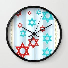 starsofdavid Wall Clock