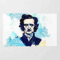 poe Area & Throw Rugs featuring POE by Jon Cain