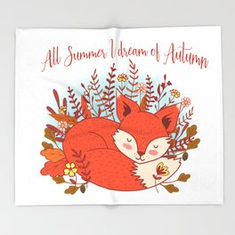 All Summer I Dream Of Autumn Throw Blanket