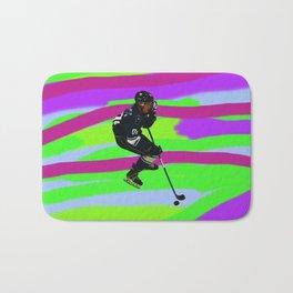 Taking Control- Ice Hockey Player & Puck Bath Mat