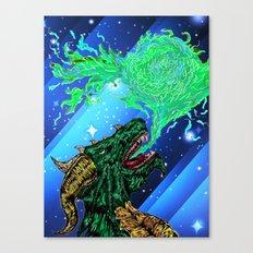 green dragon fire artist Canvas Print