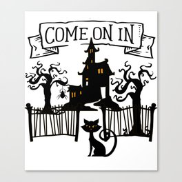 Halloween Haunted House Canvas Print