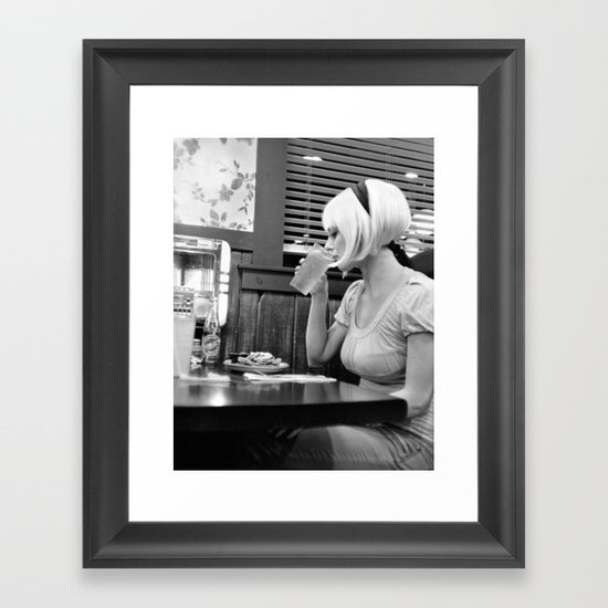 diner night Framed Art Print