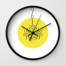 Font Chandelier Wall Clock