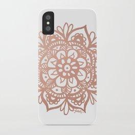 Rose Gold Mandala iPhone Case