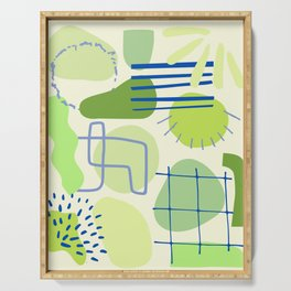 Suburbia from Above - Abstract Postmodern Retro Pattern Serving Tray