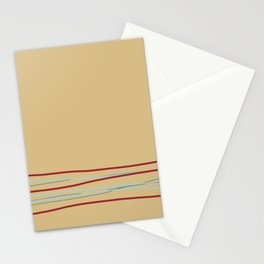Multi Colored Scribble Line Design Bottom V6 Rustoleum 2021 Color of the Year Satin Paprika & Accent Stationery Cards