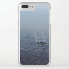 Water Explosion Clear iPhone Case