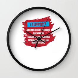 Support Rights LGBT Lesbian Gay Bisexual Transgender Gender Equality Gift Wall Clock