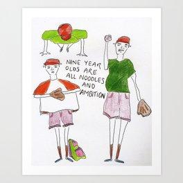 Nine Year Olds Art Print