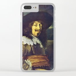 Portrait of an Officer by Frans Hals Clear iPhone Case