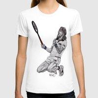 tennis T-shirts featuring Tennis Borg by Paul Nelson-Esch Art