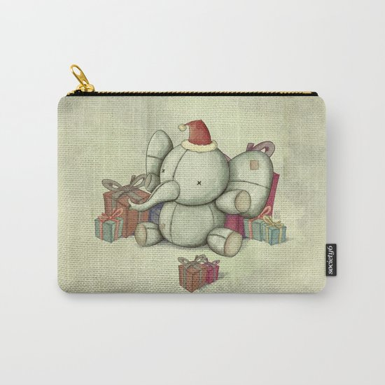 Happy Cute Elephant Carry-All Pouch
