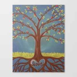 Fruits of the Spirit Tree Canvas Print