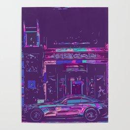 Sportscar for luxury hotel Poster