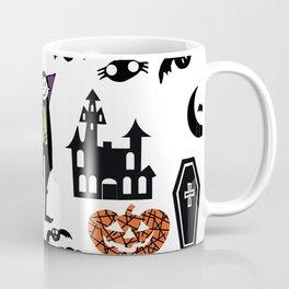 Cute Dracula and friends white #halloween Coffee Mug
