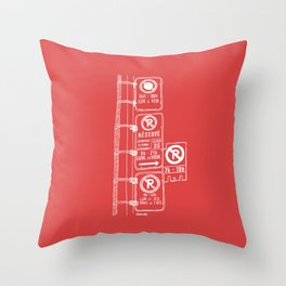 Montréal - Parking Hell - White Throw Pillow