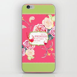 Princess Happily Ever After Modern Birds Floral  iPhone Skin