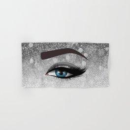 Glam diamond lashes eye #1 Hand & Bath Towel