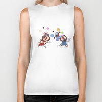animal crossing Biker Tanks featuring Animal Crossing Grumps by Steven Ray Brown