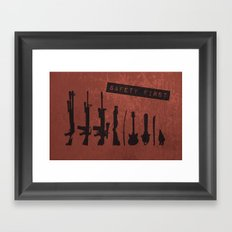 Safety First Framed Art Print