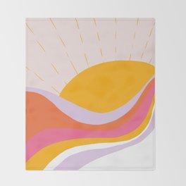 laurel canyon sunrise Throw Blanket