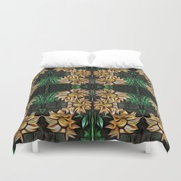 Yellow Double Garland Duvet Cover